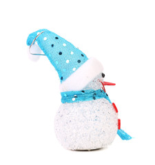 Positive joyful snowman. Christmas decoration.