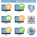 Vector Computer Icons Set 10