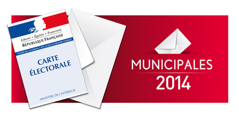 Elections municipales 2014 - Carte électorale et enveloppe
