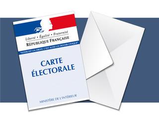 Elections - Carte électorale et enveloppe de vote