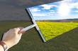 Obrazy na płótnie, fototapety, zdjęcia, fotoobrazy drukowane : Freie Sicht auf die Natur