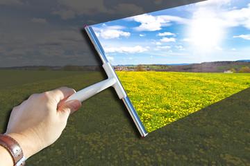 Freie Sicht auf die Natur