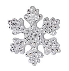 Silver snowflake decoration.