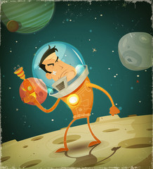 Comic Astronaut Hero