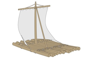 cartoon image of water raft