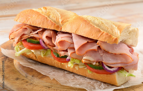 Canvas Snack Ham salad sub sandwich