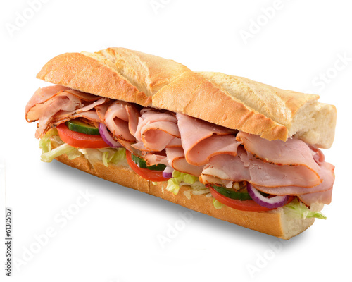 Ham salad submarine sandwich