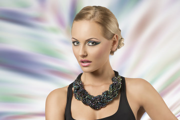 fashion girl with necklace