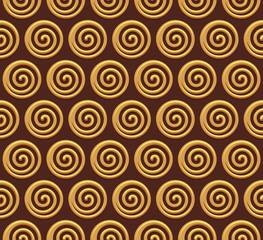 Gold spiral vector seamless background
