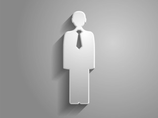 3d Vector illustration of  man icon