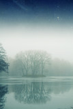 foggy winter morning. Elements of this image furnished by NASA