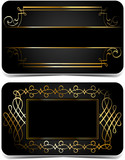 Gold and black cards