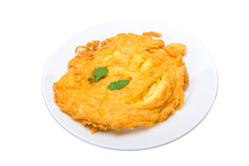Omelette with crab meat