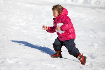 Bambina e la neve