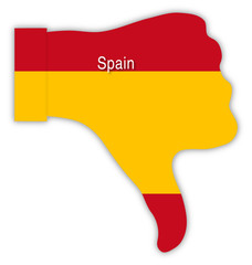 Spanien Daumen runter, Spain thumbs down