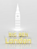 Elegant background with Big Ben and London 3d text