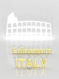 Elegant background with Colosseum and Italy text