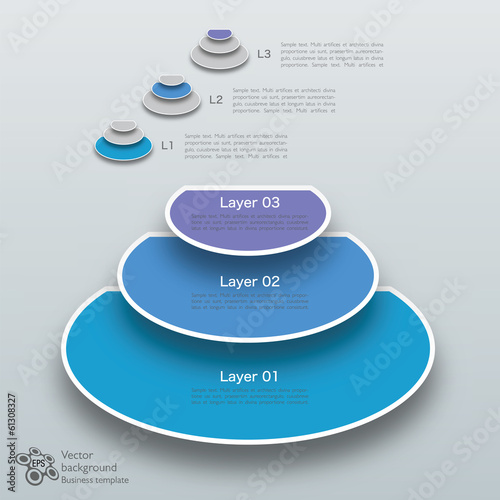 Infographics Vector Background 3 Layer