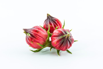 Hibiscus sabdariffa or roselle fruits.