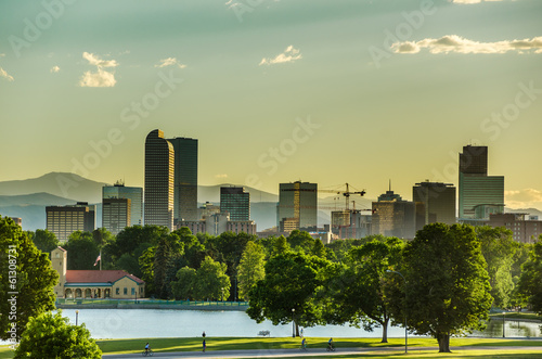 Denver Skyline at Sunset