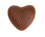 heart chocolate isolated on white