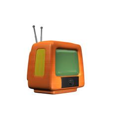 TV Fernseher - Retro Holz
