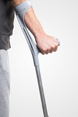 Walking with crutch