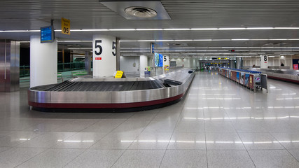 Conveyor belt in Lisbon airport.