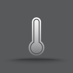 Vector of transparent thermometer icon on isolated background