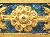 Thailand pattern on walls of buddhistic temple