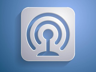 3d Vector illustration of wifi icon