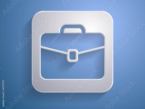 3d Vector illustration of briefcase icon