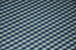 Постер, плакат: Сине – белая клетка текстура