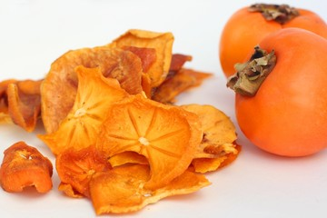 Organic dried persimmon slices