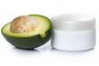 Avocado and moisturizer cream