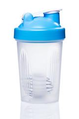 Empty protein shaker with metallic ball