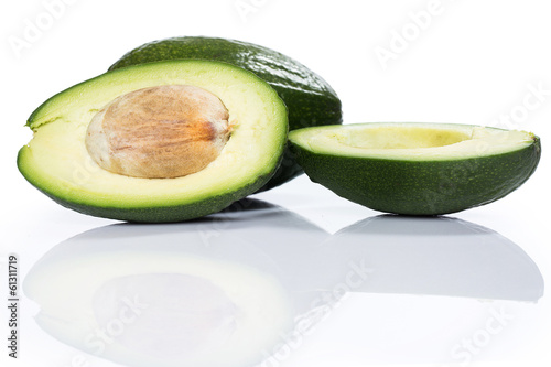 Fresh green avocado
