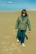 promenade hivernale sur la plage