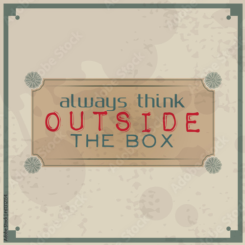 Always think outside the box - 61312154