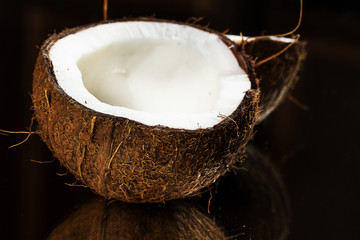 Close up of fresh coconut