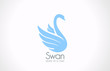 Logo Swan bird silhouette vector icon. Cosmetics, Spa, Health