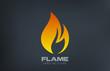 Fire flame Logo vector icon design template.