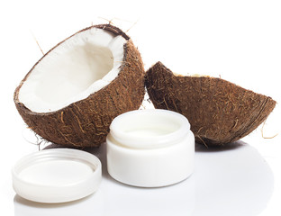 Coconut and moisturizer cream
