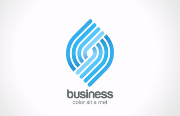 Logo Abstract Business Technology Spiral vector design