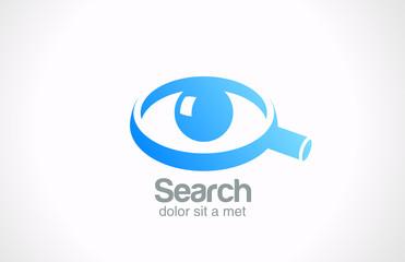 Logo Search detective spy vector icon design. Eye ball