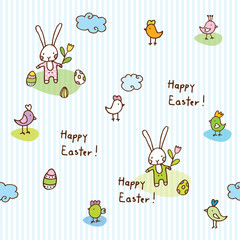 Easter  pattern,  seamless pattern, easter bunny