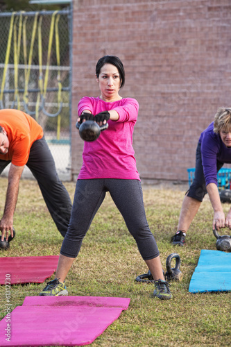 Female Adult Exercising Outdoors