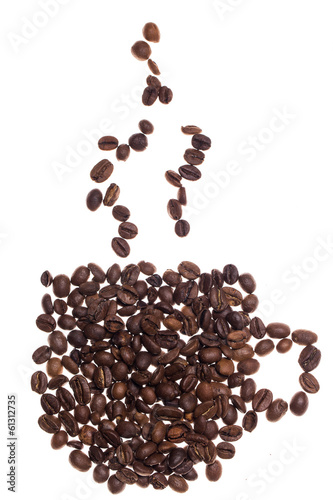 Foto op Plexiglas Cafe Coffee cup made from beans