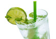 Fresh drink with lime and mint