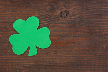One Shamrock on Wood